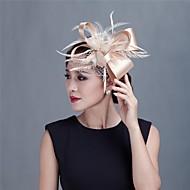 Femei Fata cu Flori Satin Pană Diadema-Nuntă Ocazie specială Informal Exterior Pălărioare