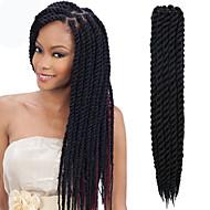 Black Havana Twist Braids Hair Extensions 12-24inch Kanekalon 2 Strand 80g/pcs gram Hair Braids
