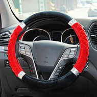 Flocking Steering Wheel Cover for Four Seasons Random Colors