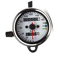 12V Universal Motorcycle Dual Odometer Speed Meter Gauge LED Backlight Signal