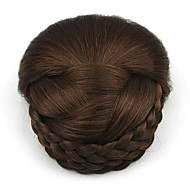 Kinky Curly Brown Europe Bride Human Hair Capless Wigs Chignons SP-159 2009