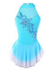 Ice Skating Dress Women's / Girl's Sleeveless Skating Skirts & Dresses Figure Skating Dress Spandex Blue Skating WearPerformance /