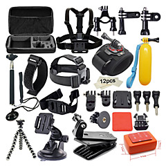 42 in 1 Outdoor Sports Accessories Kit for GoPro Hero 5 GoPro Hero 4s 4 3+ 3 2 1 Black Silver with Large Bag