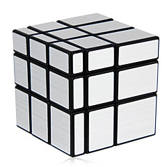 Shengshou® Smooth Speed Cube 3*3*3 Mirror Magic Cube Black / Silver ABS