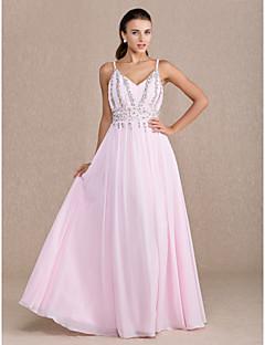 d9e43767cc85 TS Couture Χορός Αποφοίτησης Φόρεμα - Βίντατζ Ίσια Γραμμή Λαιμόκοψη V Μακρύ  Σιφόν με Κρυστάλλινη λεπτομέρεια