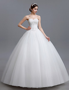 8cf95f99f04 Ball Gown Wedding Dress Vintage Inspired Floor-length Sweetheart Tulle with  Beading