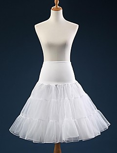 Girls Slips Ball Gown Slip Knee-Length 3 Tulle Petticoat TUTU White / Black / Red