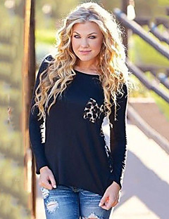d3f11d047814 Γυναικεία T-shirt Καθημερινά   Μεγάλα Μεγέθη Απλό   Κομψό στυλ street  Λεοπάρ