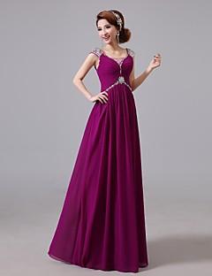 2f6f4f7a00a Χορός Αποφοίτησης / Επίσημο Βραδινό Φόρεμα Γραμμή Α Με Κόσμημα Μακρύ Σιφόν  με Χάντρες / Κρυστάλλινη