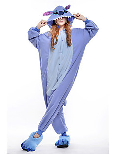 Kigurumi Pyjamas New Cosplay® / Stitch / Monster Gymnastikanzug/Einteiler Halloween Tiernachtwäsche Blau Patchwork Polar-Fleece Kigurumi
