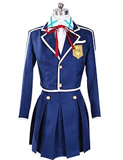 c9c9bd20e6dd Inspireret af Sword Art Online Asuna Yuuki Anime Cosplay Kostumer Cosplay  Suits Patchwork Blå Langt Ærme