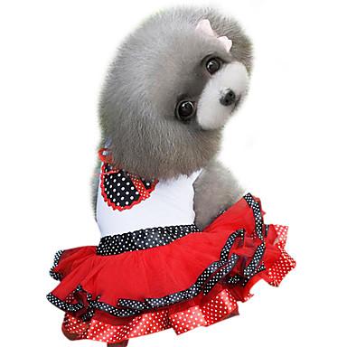 79070407ae7 Σκυλιά Φορέματα Κόκκινο / Βυσσινί Ρούχα για σκύλους Καλοκαίρι ...