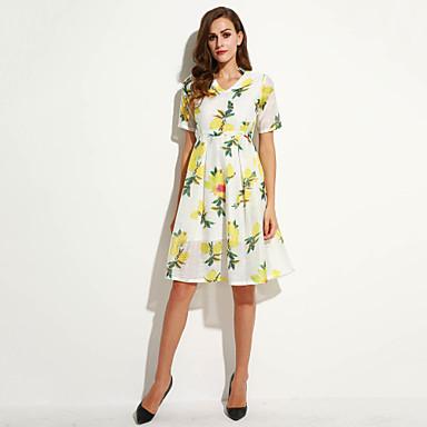 8967a367f6b0 Γυναικεία Φόρεμα Κομψό στυλ street Γραμμή Α   Θήκη Στάμπα Μίντι ...