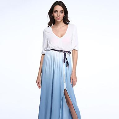 b2f8f9149027 Γυναικεία Φόρεμα Απλό   Κομψό στυλ street Swing Συνδυασμός Χρωμάτων ...