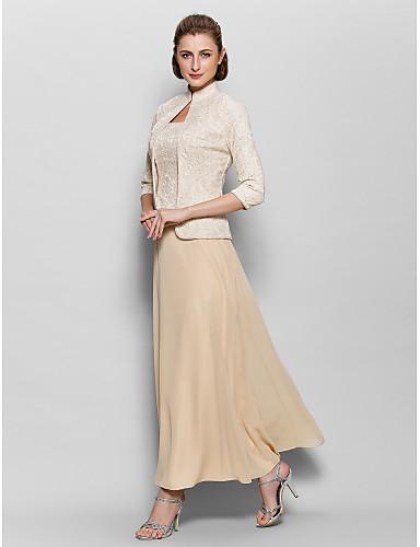 dd05b8ec95bf Lanting Bride® Γραμμή Α Φόρεμα Μητέρας της Νύφης Μέχρι τον αστράγαλο ...