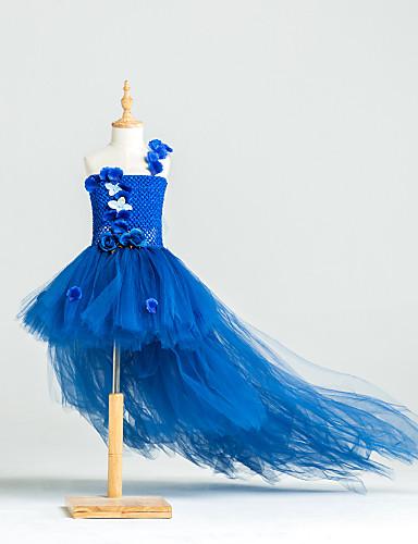 e06362b4e8b0 Βραδινή τουαλέτα Ασύμμετρο Φόρεμα για Κοριτσάκι Λουλουδιών - Τούλι ...